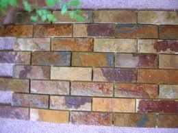Slate Kitchen Backsplash Slate Subway Tile Backsplash Subway Tile Sized Slate For