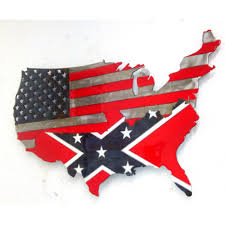 Rebel Flag Home Decor by Rebel Flag Metal Art Lower 48