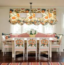 kitchen banquette seating dining room traditional with striped