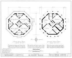 octagon house plans home vintage blueprint design custom building