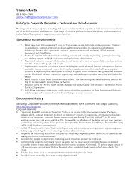 Recruiting Resume Examples by Recruiter Resume Sample Free Resume Example And Writing Download