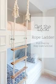 Bunk Bed Rope Ladder Full Instructions Pictures Video - Ladder for bunk bed
