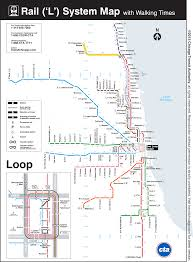 Chicago Line Map by This Map Shows The Walking Distance Between Cta U0027l U0027 Stations