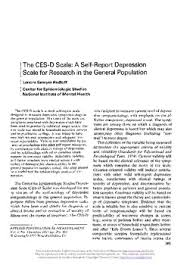 The CES D Scale  A self report depression scale for research in     Thumbnail