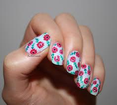 pastel spring floral nails