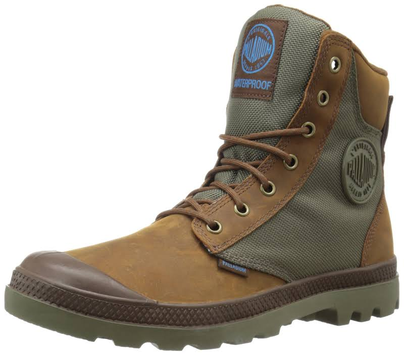 PALLADIUM Pampa Sport Cuff WPN Unisex Brindle Brown/Moon Mist (5)