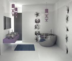 fascinating white interior decoration of modern bathroom style