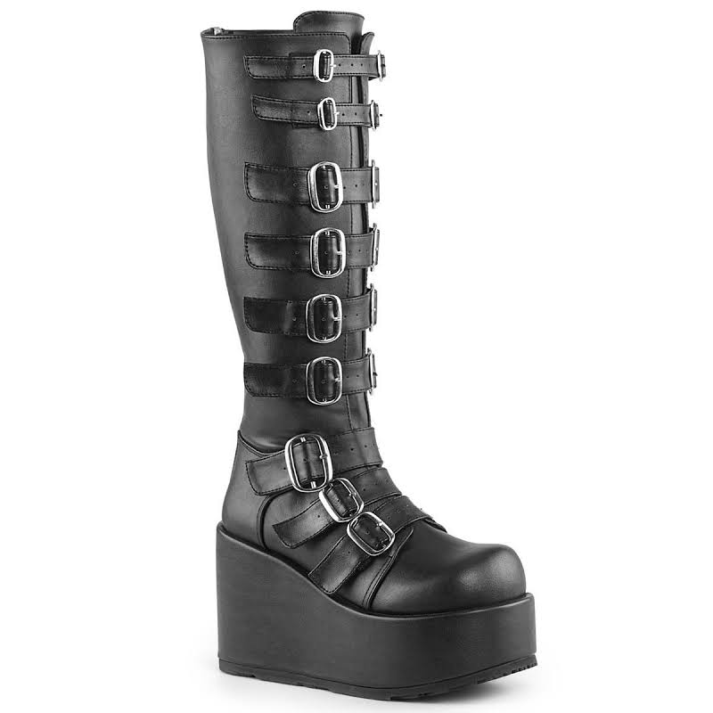 "CONCORD-110, 4 1/4"" Platform Knee High Boot"