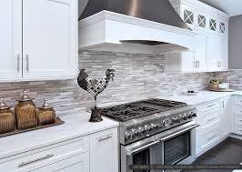 WHITE MODERN SUBWAY Marble Mosaic Backsplash Tile - White kitchen backsplash ideas