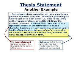 The basics of writing a thesis statement or introduction sentence  Check out the tutorial for works cited page help