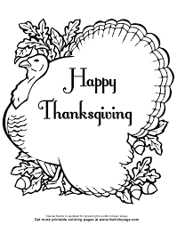 free thanksgiving color pages kids coloring