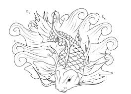 koi fish coloring pages print coloringstar
