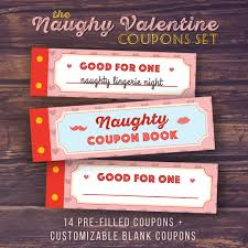 Best Mens Valentines Gifts by Gift For Boyfriend Naughty Love Coupon Book Printable