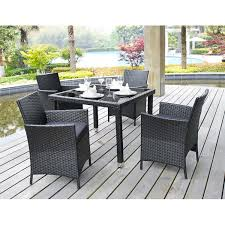 5 Pc Patio Dining Set - amazon com 5 piece outdoor patio dining set with cushions uv