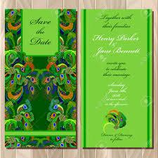 Printable Invitation Card Stock Wedding Invitation Card With Peacock Feathers Printable