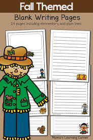 kindergarten lined writing paper 114 best printable lined writing paper images on pinterest fall blank writing pages