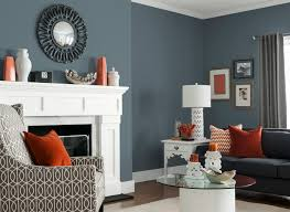 living room in glidden u0027s french grey 70bg 19 071 color therapy