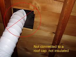 Insulated Ventilation Ducting Ceiling Stains