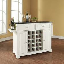 buy alexandria kitchen island with black granite top base finish