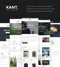 Responsive Email Templates Mailchimp by Kant Responsive Email For Startups With 50 Sections