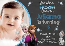 1st Year Baby Birthday Invitation Cards Frozen Birthday Invitations Iidaemilia Com