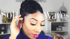 soft finger waves on short hair short hair tutorial youtube