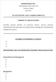 Entry Level Resume Examples by 10 College Resume Templates U2013 Free Samples Examples U0026 Formats
