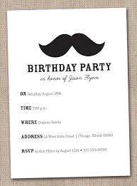 imposing mustache birthday party invitations theruntime com