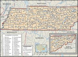 Map Of Cities In Usa by State And County Maps Of Tennessee