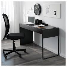 Computer Desks Black by Micke Desk Black Brown 142x50 Cm Ikea