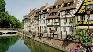 houses along canal in colmar france stock video footage videoblocks