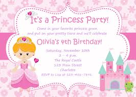 Birthday Invitation Cards For Kids Princess Birthday Party Invitations Cloveranddot Com