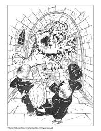 harry potter and 3 headed dog coloring pages hellokids com