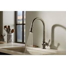 k99259 cp artifacts pull out spray kitchen faucet polished