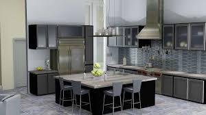 kitchen decor with rustic funiture also modern glass kitchen