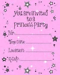 Create Birthday Invitation Card Online Princess Party Invitations Theruntime Com