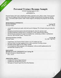 Sample Babysitter Resume by Personal Trainer Resume Sample And Writing Guide Rg