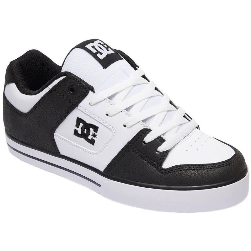 DC Pure Leather Lace-Up Skate Shoes Black 9.5 Medium (D)