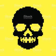 halloween pixel backgrounds pixel skull background stock vector art 468313954 istock