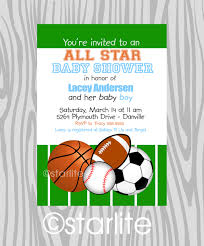 printable baby shower invitations for boys theme sports themed baby shower invitations
