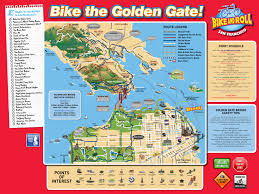 Street Map San Francisco by Bike The Golden Gate Bike San Francisco Bike And Roll