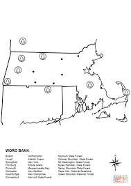 massachusetts map worksheet coloring page free printable
