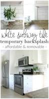 Kitchen Backsplash Options Kitchen Best 25 Removable Backsplash Ideas On Pinterest Easy