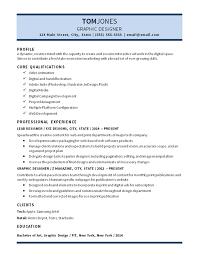 Graphic Designer Resume Sample by Lead Graphic Designer Resume Example Digital Media Video