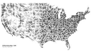 The Map Of The United States Of America by Zip Code Scribble Map Of The United States Of America Onepeggenius