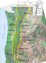 Oregon Map by Cascade Mountain Range In Oregon