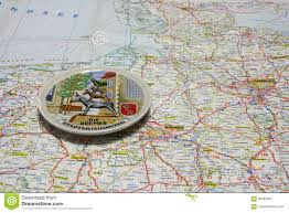 Detailed Map Of Germany by Map Of Germany Souvenir Plate Of Bremen Stock Photo Image 85482957