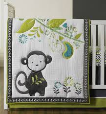 Monkey Crib Set Crib Bedding Ideas For Boys With Happy Chic Safari Monkey On Green