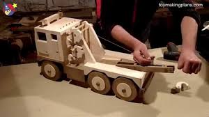 Build Wood Toy Trains Pdf by Wood Toy Plans Big Rig Wrecker Truck Youtube