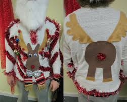 homemade custom 3 d hysterical reindeer tacky ugly christmas